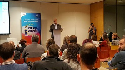 Las pymes de Lleida en la Llotja, en una charla sobre subvenciones europeas