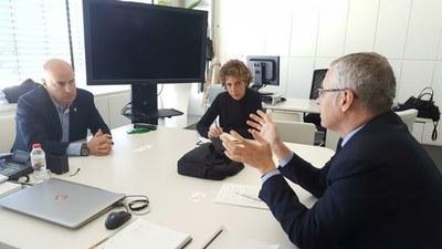 Peris se reúne con AECOC para preparar la próxima edición del congreso de productos cárnicos y elaborados en el Palacio de Congresos de Lleida 2018